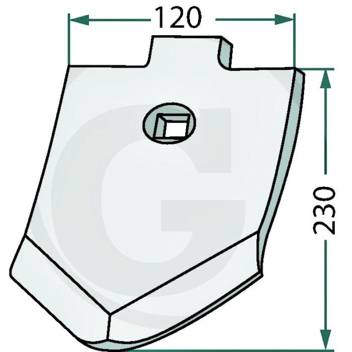 Punta de reja con recubrimiento endurecido, S 12 P