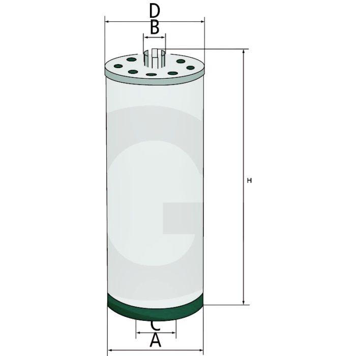 Filtro aceite de motor.Compatible con HU 947/2 x