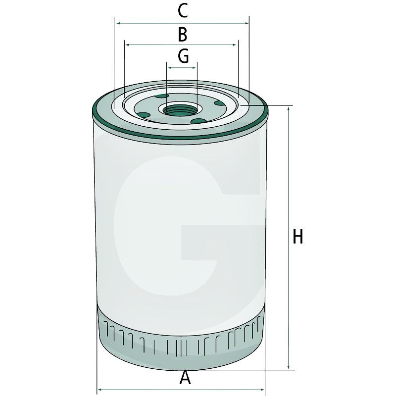 Filtro aceite de motor. Compatible con W 950/17 & LF0386100