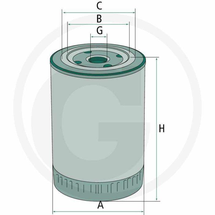 Filtro aceite de motor. Compatible con W 962/6 & LF0405400
