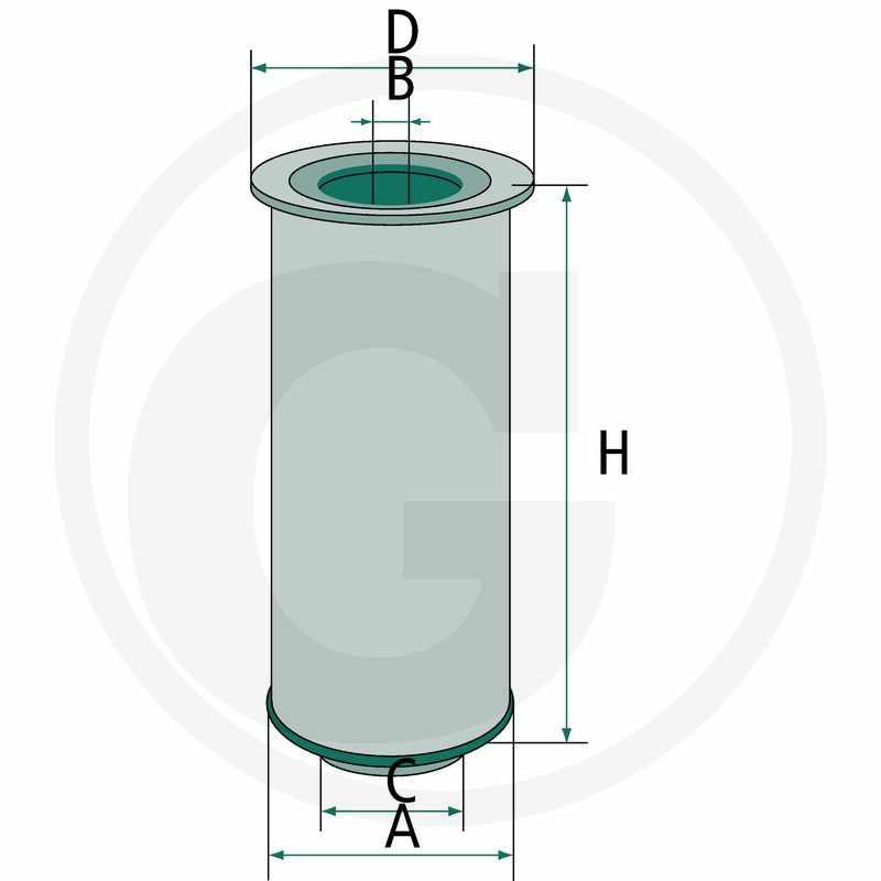 Filtro de aire. Compatible con AF25371