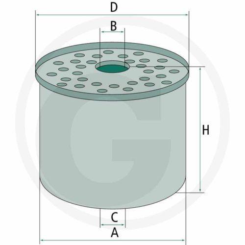 MANN Filtro de combustible P945