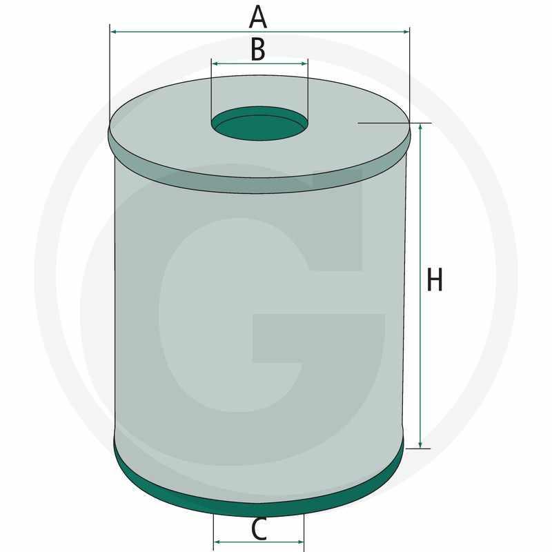 Filtro para aceite de engranajes hidráulicos. Adecuado para H 1059/2