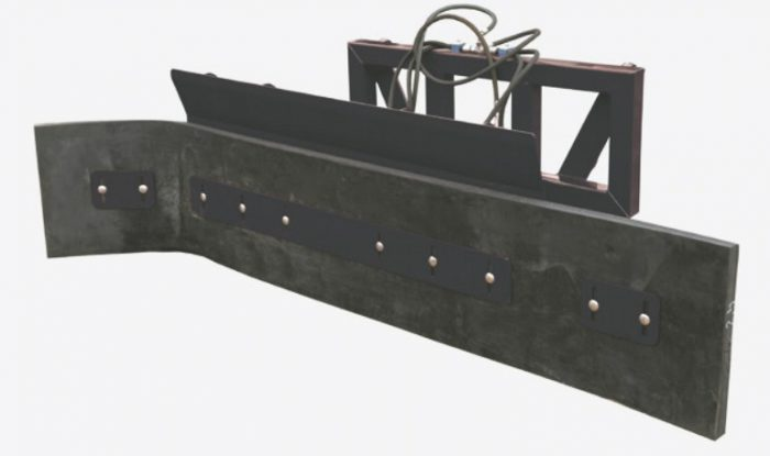 Hoja para estiércol 1,7m con el ajuste hidráulico del ángulo de trabajo