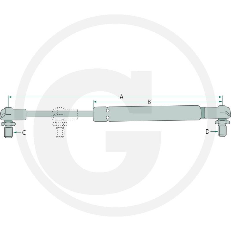 Stabilus Muelle neumático 350N