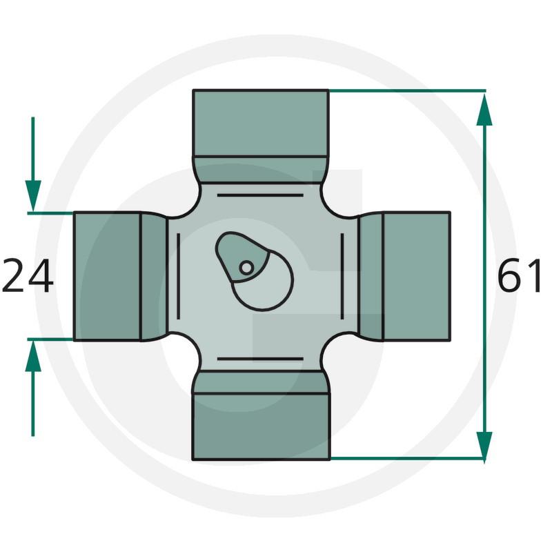 Weasler Juego en forma de cruz P-Kit. F22, F227, B2, AW20, AW20S, AB2