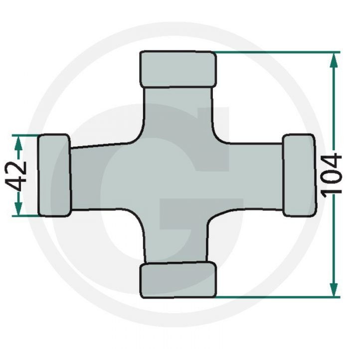 Weasler Jgo. forma de cruz P-Kit. F26, AW26