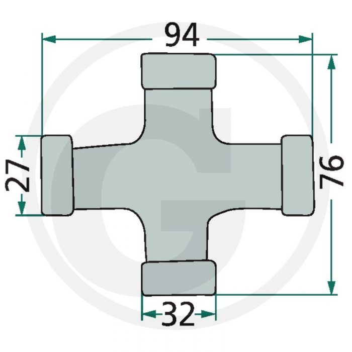 Weasler Jgo. forma de cruz. F248, AW35-80°