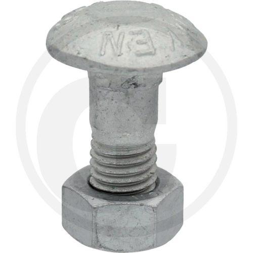 Lemken tornillo de cabeza redondeada M12x30-10.9 MU Zn