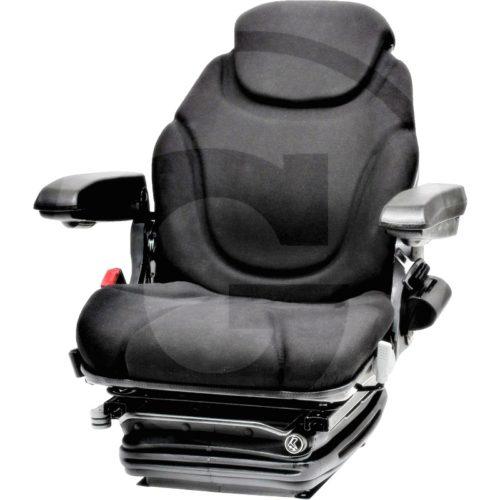 Asiento super confort 12V (Revestimiento de tela, negro)