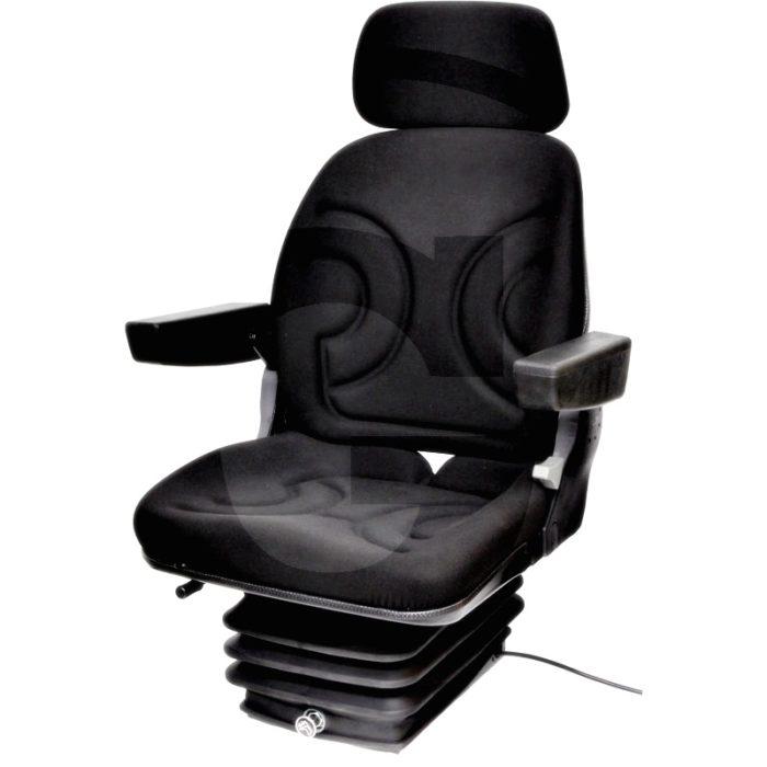 Asiento neumático (Suspensión estrecha  Revestimiento de tela, negro)